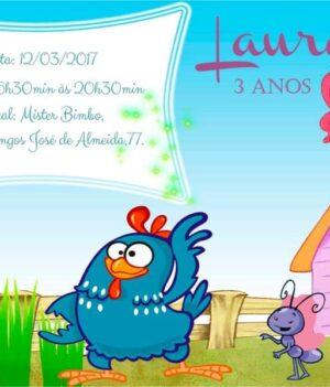 Convites da galinha pintadinha