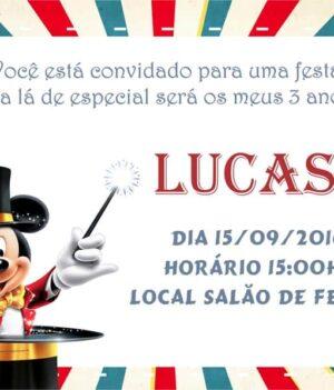 Convite de aniversario Mickey modelo 2