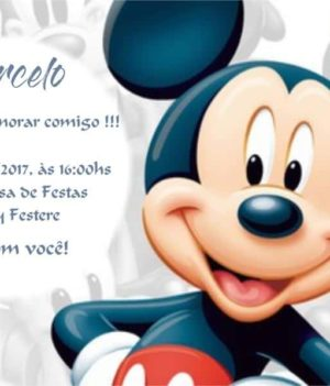 Convite do Mickey modelo 2