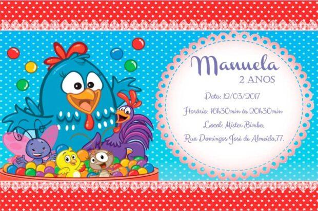 Convite galinha pintadinha