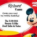 Convite Mickey modelo 1