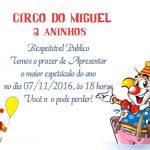 Convites de aniversario de circo modelo 5
