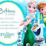 Convite infantil Frozen modelo 3