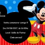 Convites do Mickey modelo 4