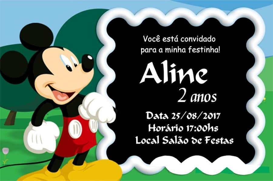 Convites Mickey modelo 3
