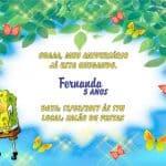 Convite Bob Esponja modelo 2
