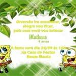 Convite do Bob Esponja modelo 1