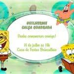 Convites de aniversario Bob Esponja modelo 5